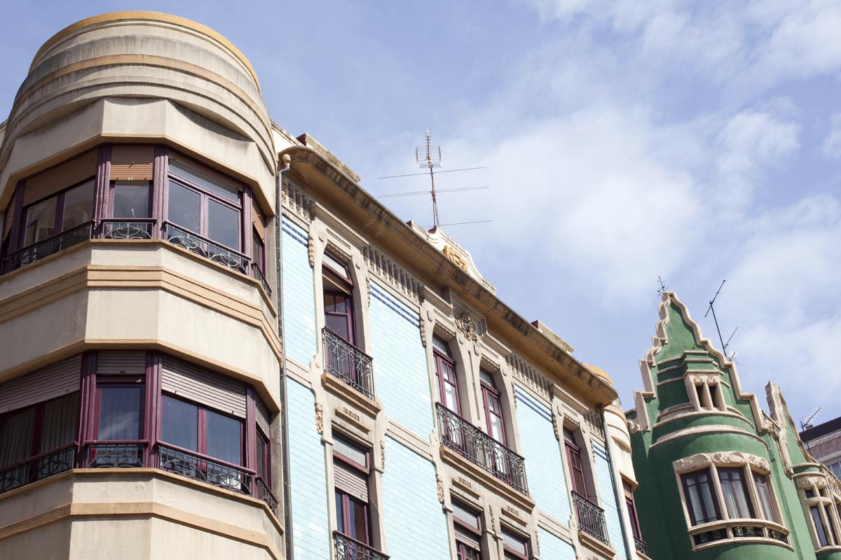 Imagen del centro de Gijón en visita guiada